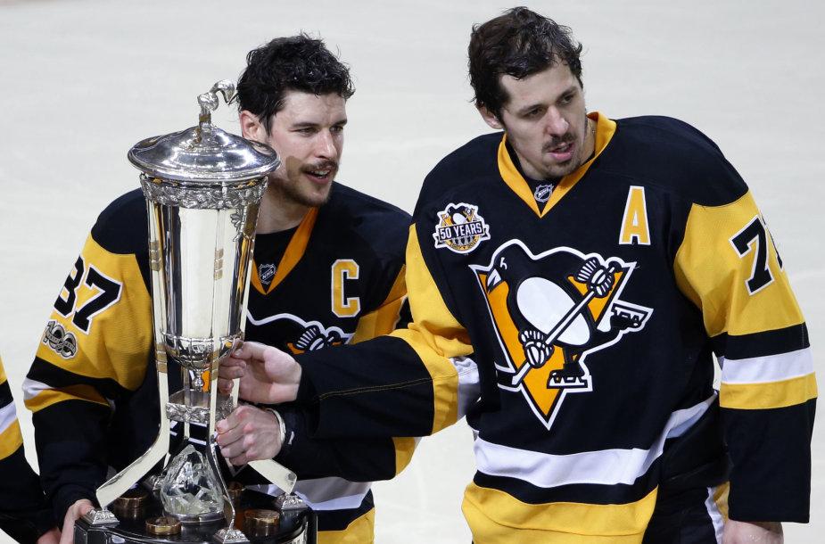 Sidney Crosby ir Jevgenijus Malkinas