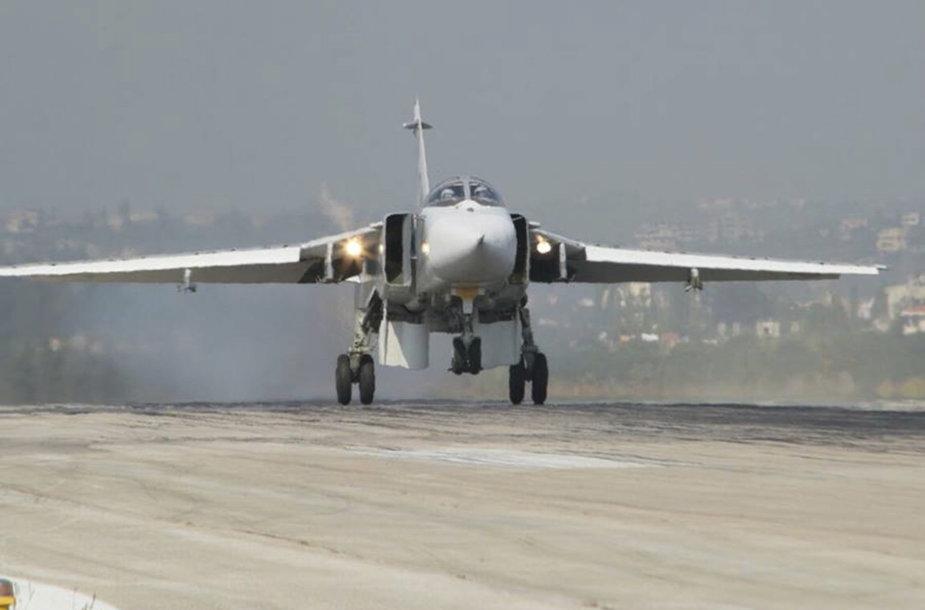 """Rusijos """"Su-24"""" Sirijoje"""