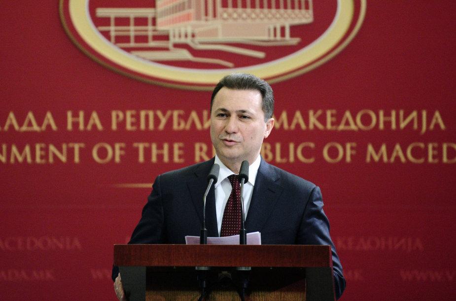 Makedonijos premjeras Nikola Gruevskis