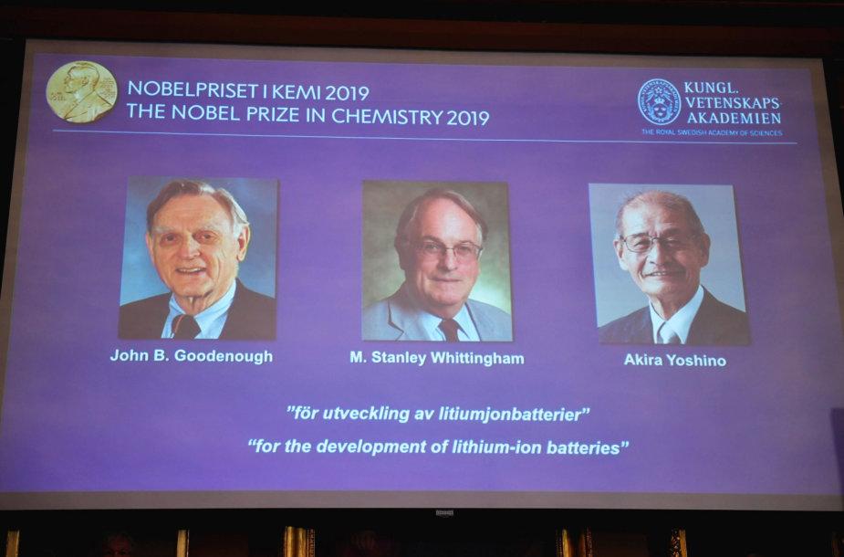 Paskirta 2019-ųjų Nobelio premija Chemijos srityje