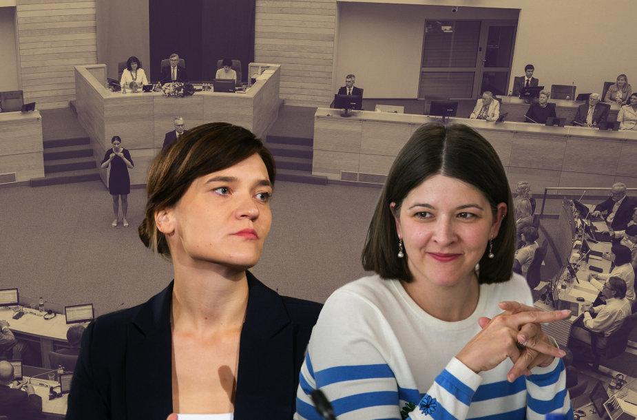 Radvilė Morkūnaitė-Mikulėnienė ir Gintarė Skaistė