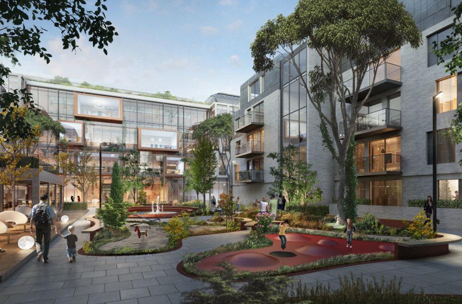 Algirdo gatvėje iškils naujas administracinių ir gyvenamųjų patalpų kompleksas iškils