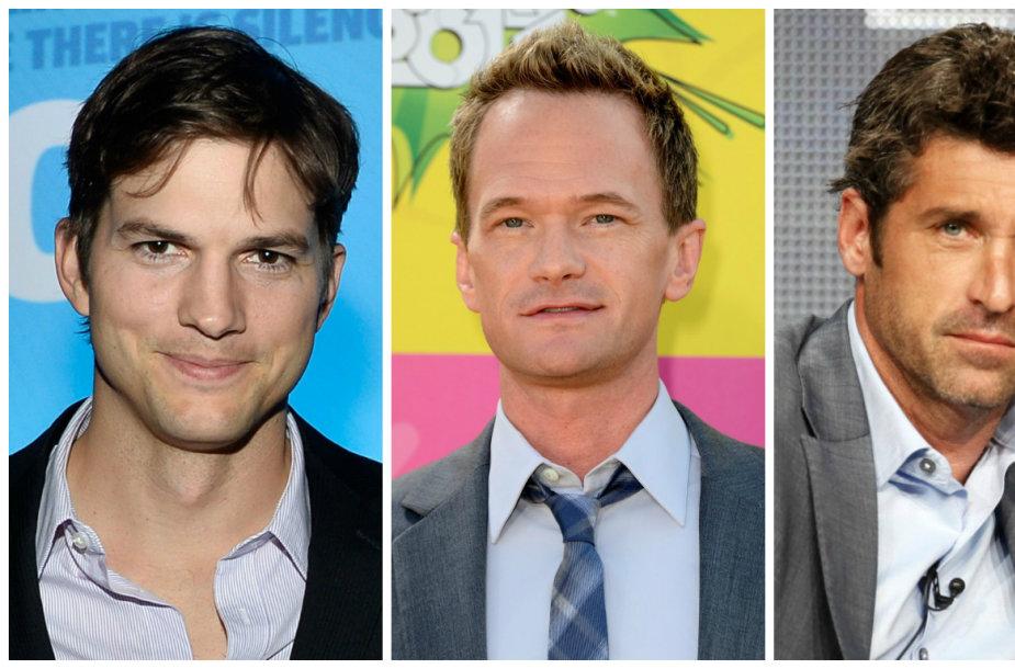 Daugiausia uždirbantys televizijos aktoriai: Ashtonas Kutcheris, Neilas Patrickas Harrisas, Patrickas Dempsey ir Kevinas Spacey
