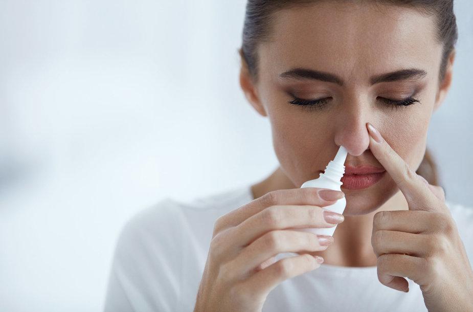 Purškiami vaistai į nosį