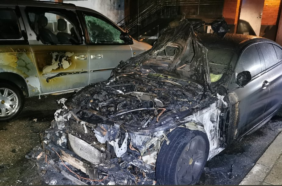 Padegtas automobilis