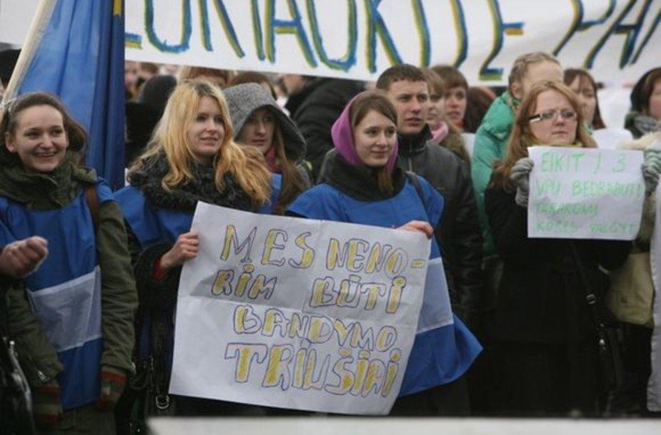 Studentų protesto akcija