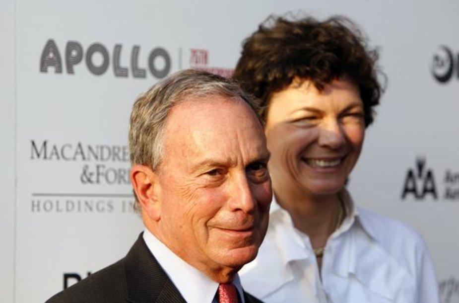 Niujorko meras Michaelas Bloombergas su mergina Diana Taylor