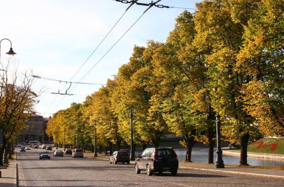 Vilnius nusidažė geltonai