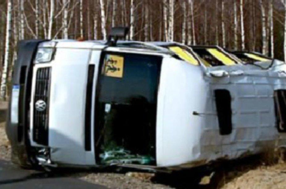 Vaikų autobusiuko avarija Lenkijoje