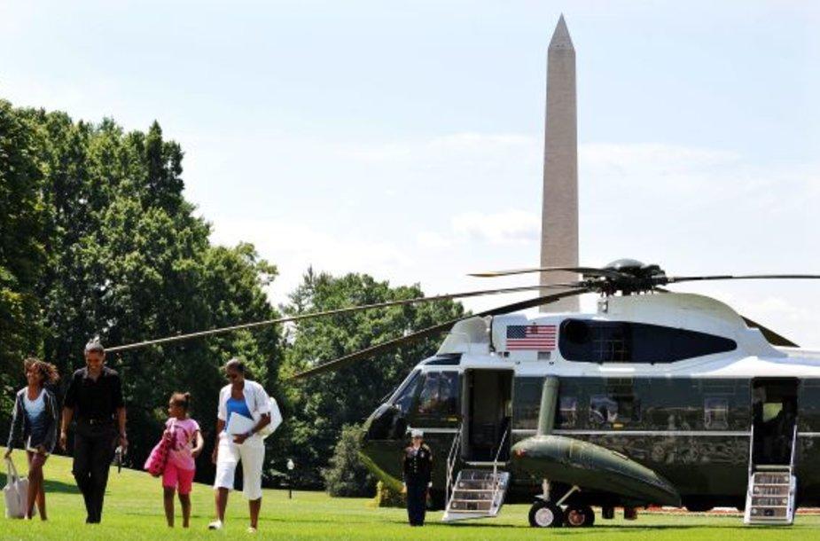 Prezidentas B.Obama su šeima