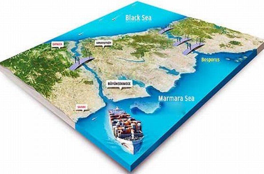 Turkijos kanalas sujungs Juodąją ir Marmuro jūras