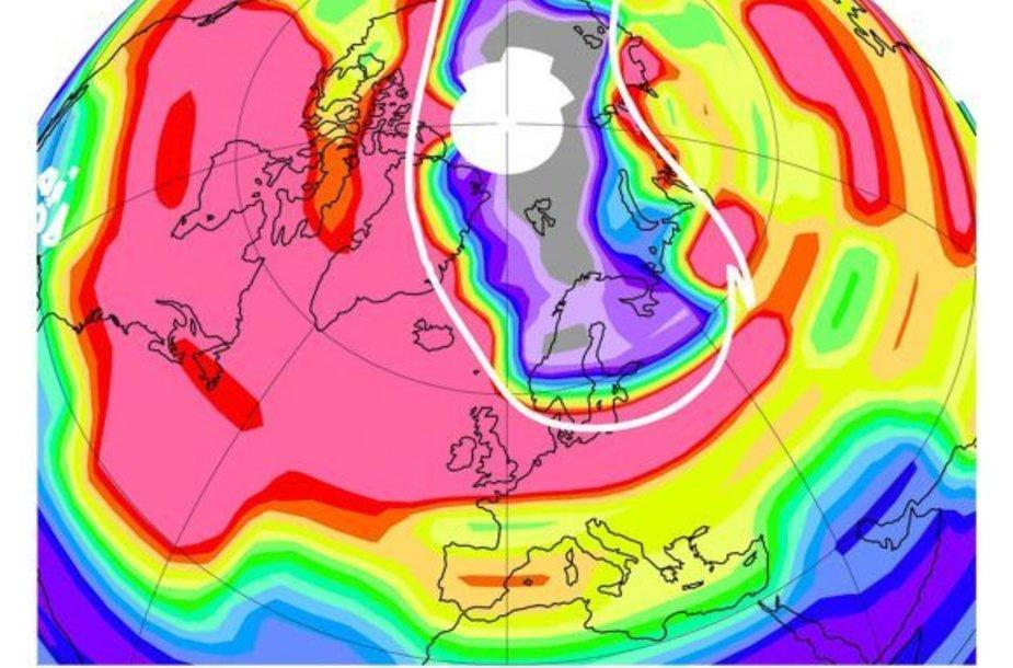 Ozono sluoksnis nuo 2011 m. kovo sumažėjo 20 km ruože