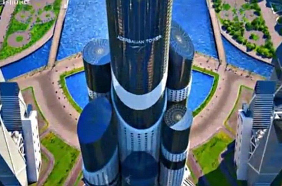 Naujasis dangoraižis į dangų šaus daugiau nei kilometrą.
