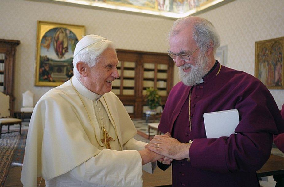 Popiežius Benediktas XVI ir Kenterberio arkivyskupas Rowanas Williamsas