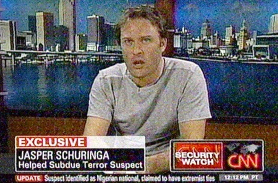 Jasperas Schuringa pasakoja savo įspūdžius televizijos kanalo CNN laidoje.
