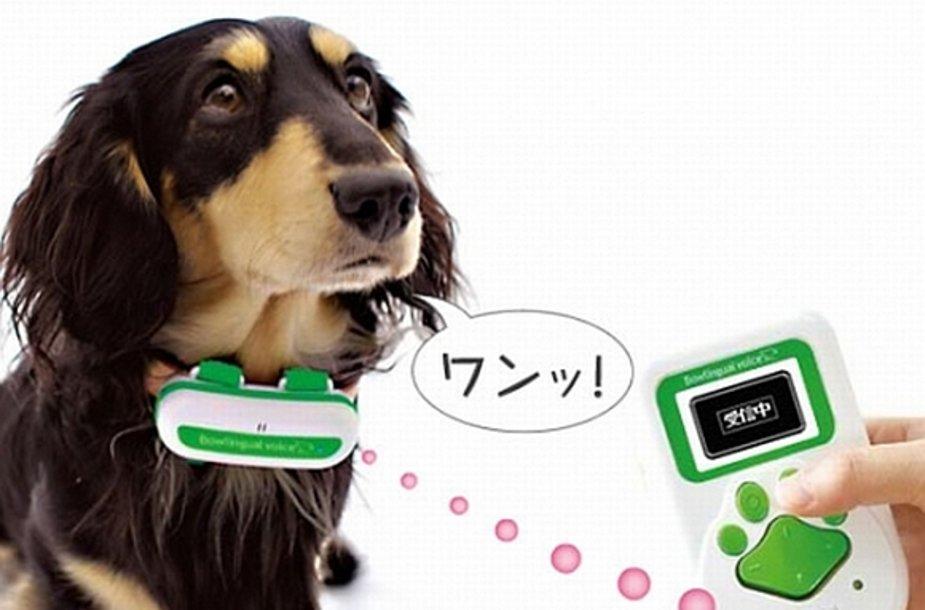 Aparatas šuns lojimą verčia į žmonių kalbą.