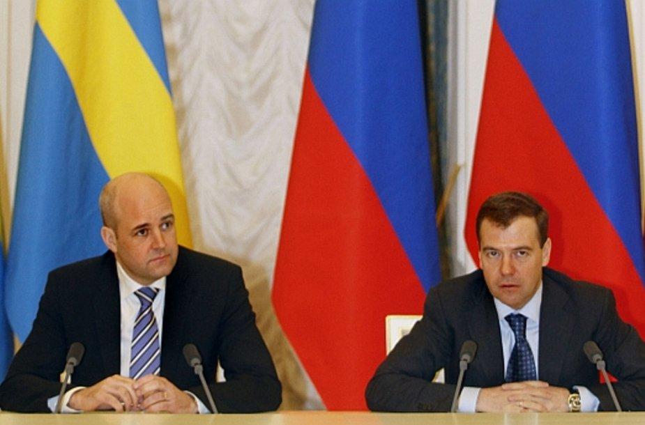 Fredrikas Reinfeldtas ir Dmitrijus Medvedevas