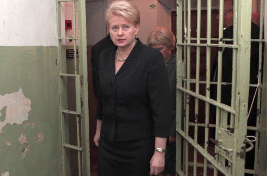Dalia Grybauskaitė lankosi Genocido aukų muziejuje.