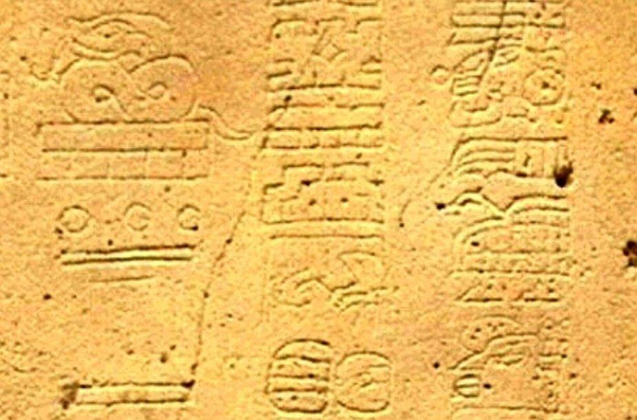 Majų kalendoriaus fragmentas
