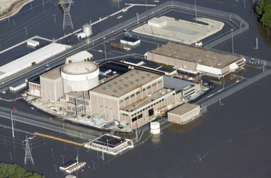 Potvynio vandens apsemta Fort Kalhūno atominė elektrinė