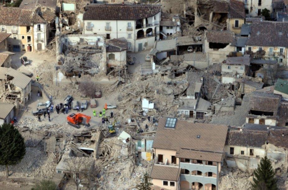 Žemės drebėjimo pasekmės Akviloje