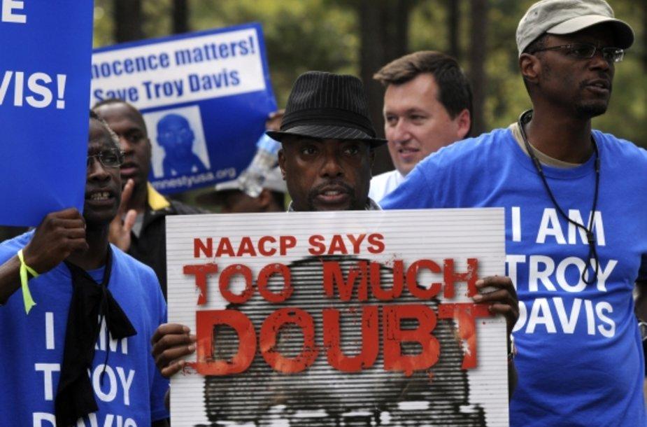 Protesto akcija prieš mirties bausmės vykdymą Troy Davisui