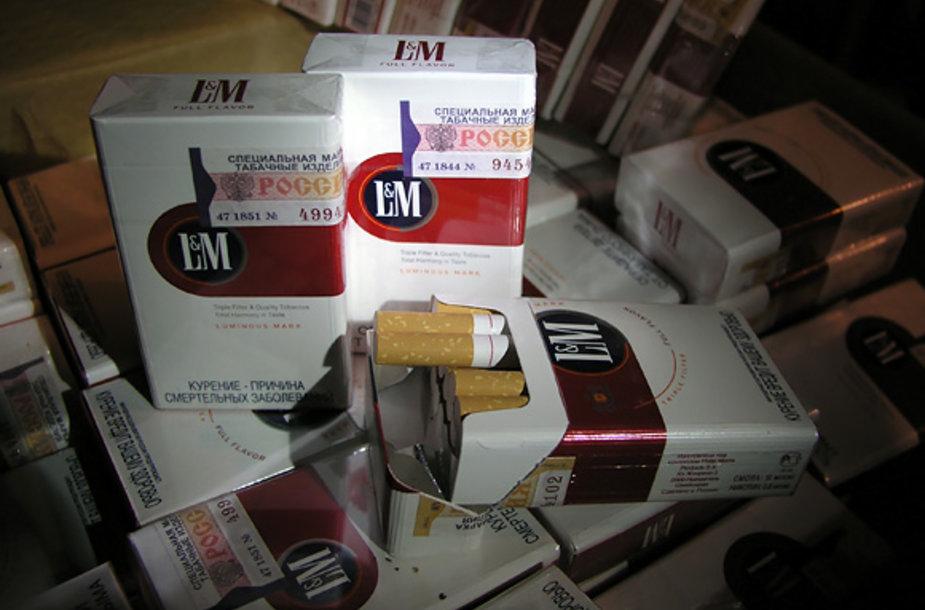 Pasieniečių konfiskuotos cigaretės