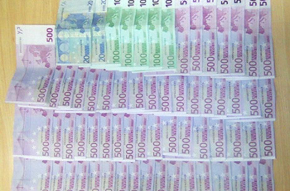 Muitininkų sulaikyti pinigai