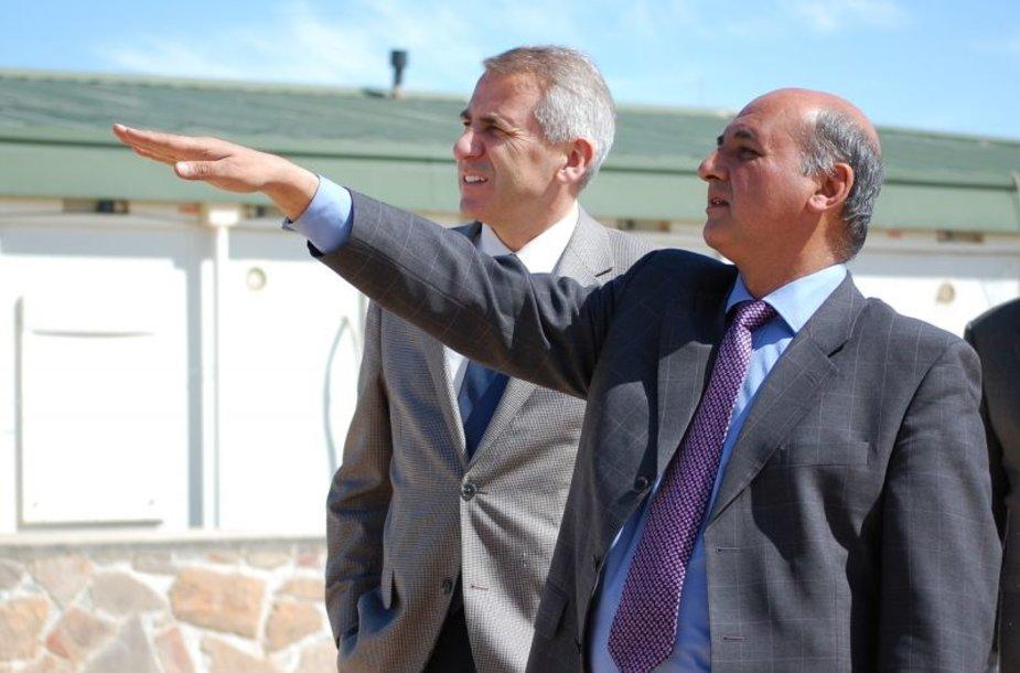 VygaudasUšackas ir Goro gubernatorius Abdullah Heiwadas