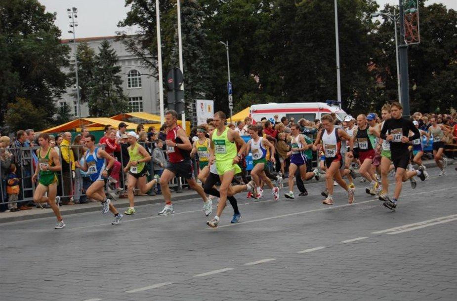 Vilniaus maratono bėgikai