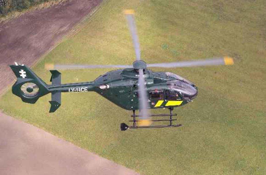 Transplantacijai reikalingus organus skraidins pasieniečių sraigtasparniai.