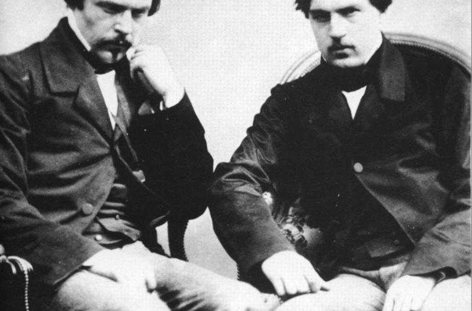 Julius (1830-1870) ir Edmundas (1822-1896) de Gonkūrai