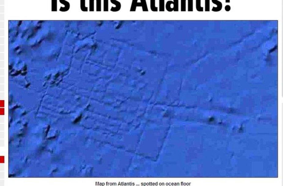 Nuotrauką, kurioje, teigiama, užfiksuota legendinė Atlantidos sala.