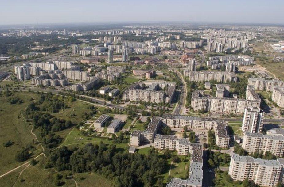 Vilniaus mikrorajonai iš paukščio skrydžio