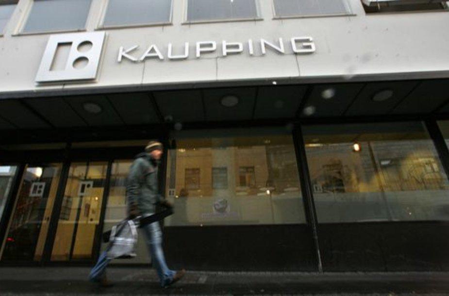 """""""Kaupthing"""" – vienas iš trijų bankų, kurie dalinsis Vyriausybės skirtus 1,5 mlrd. eurų."""