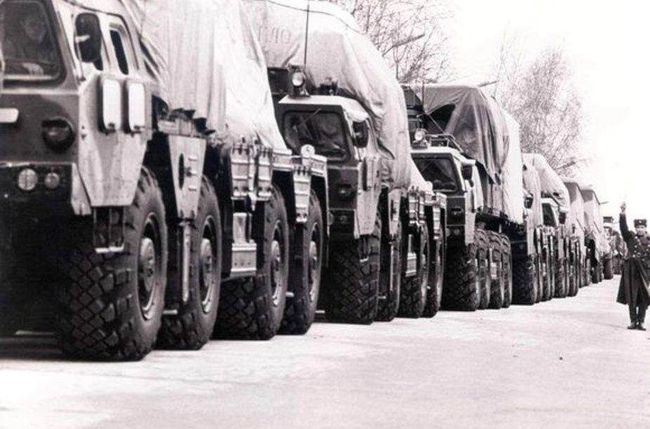 Rusijos kariuomenės išvedimo iš Lietuvos pradžia. 1992 m. kovo 3 d. Visoriai.