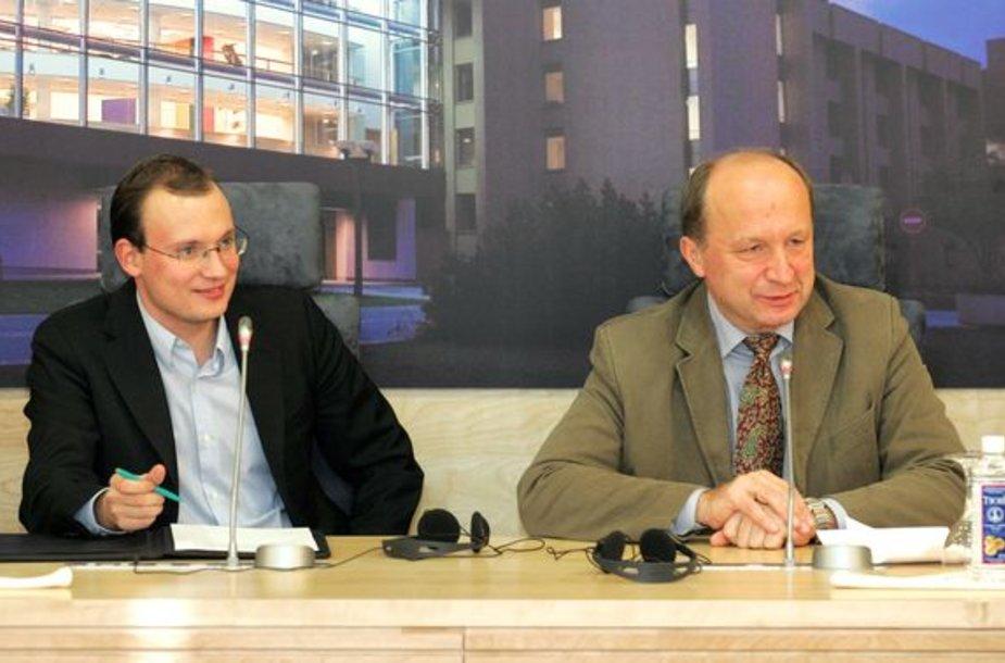 Jonas Survila (kairėje) ir Anrdius Kubilius