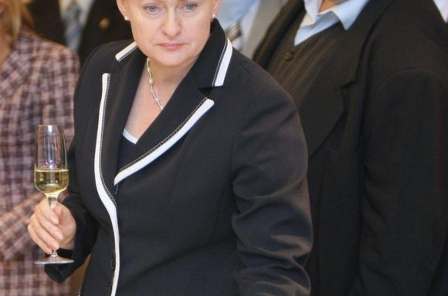 Dalia Grybauskaitė ir jos rinkimų štabo vadovas Vitas Vasiliauskas