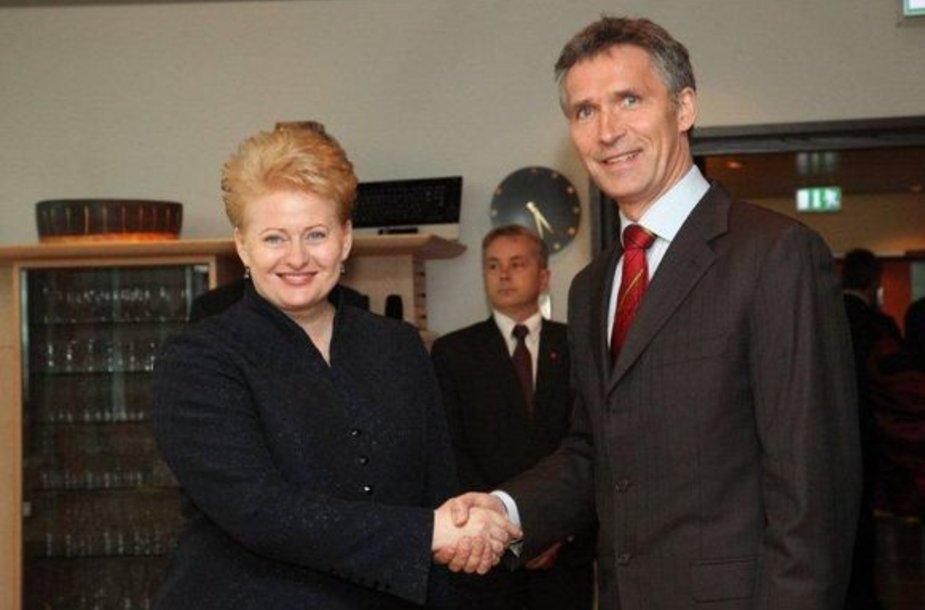 Prezidentė Dalia Grybauskaitė ir Norvegijos ministru pirmininku Jensas Stoltenbergas