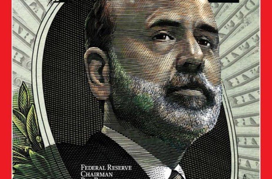 """""""Time"""" viršelis su Metų žmogumi B.Bernanke."""