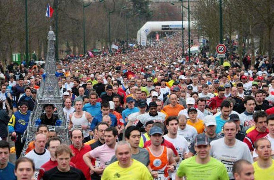 Paryžiaus pusės maratono bėgimo startas
