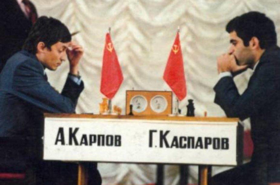 Gario Kasparovo ir Anatolijaus Karpovo dvikova prieš 25 metus