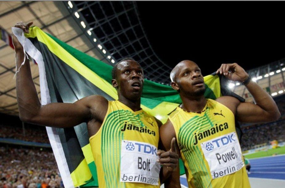 Usainas Boltas ir Asafa Powellas