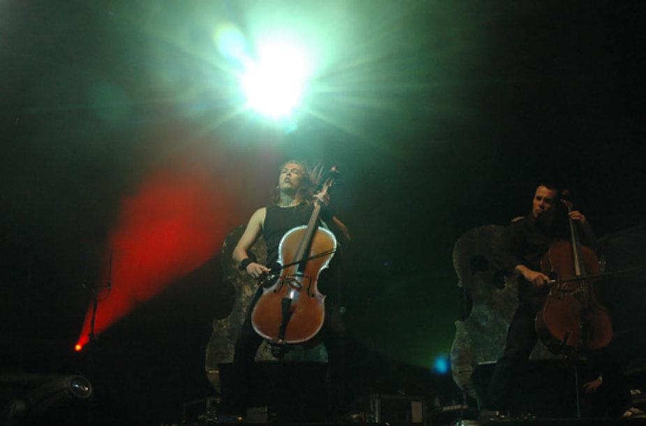 """""""Apocalyptica"""" koncertas Trakų pilyje"""