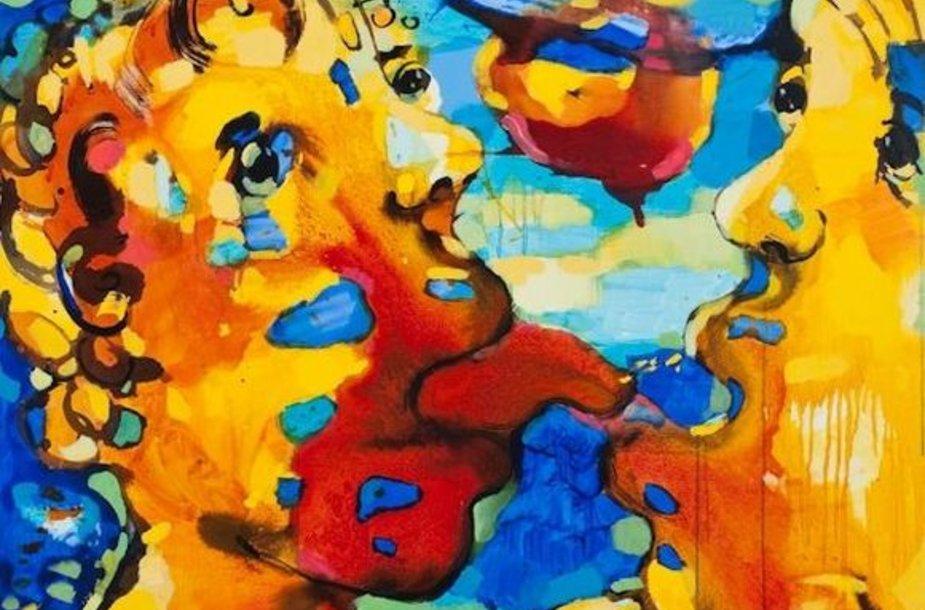 """Vilmanto Marcinkevičiaus paveikslas tema """"Friends"""" (Draugai)"""