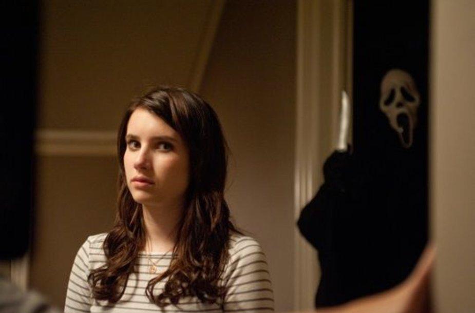 "Emma Roberts filme ""Klyksmas 4"""