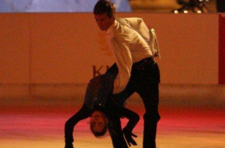 Ledo šokėjų pora