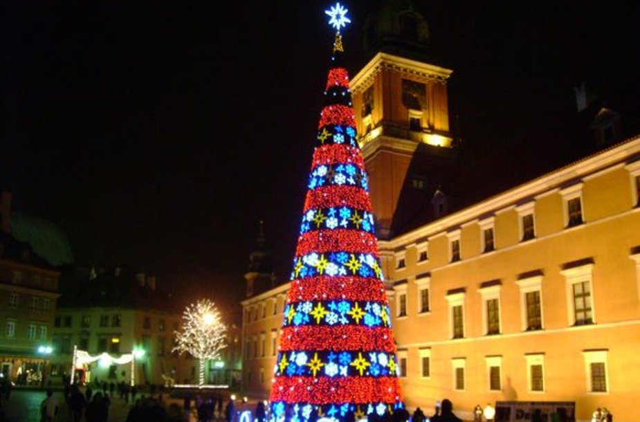 Kalėdinė eglė Varšuvoje