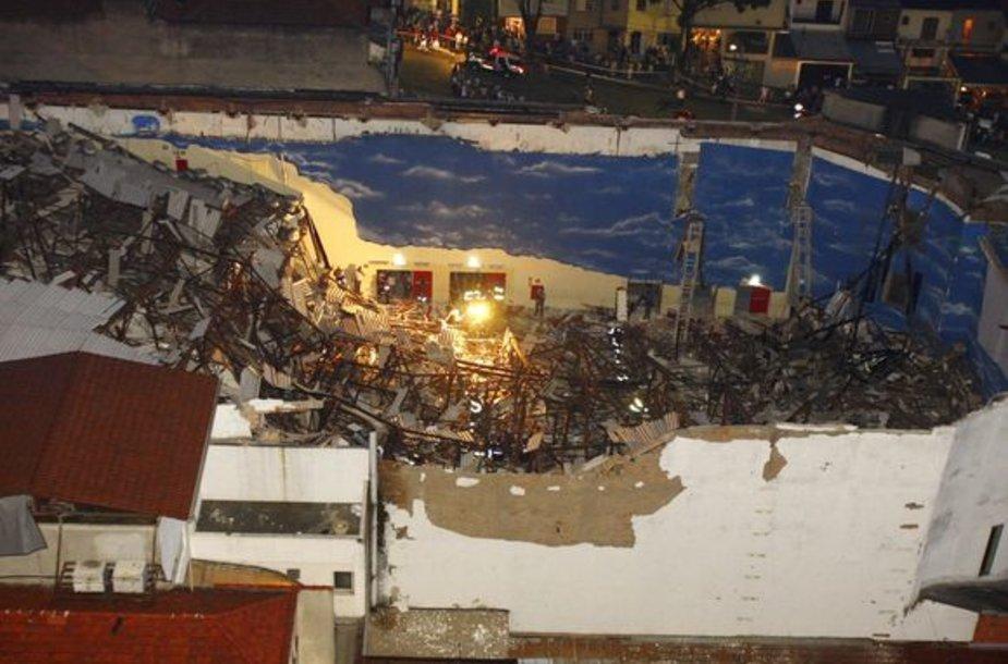 Brazilijoje sugriuvo bažnyčia.