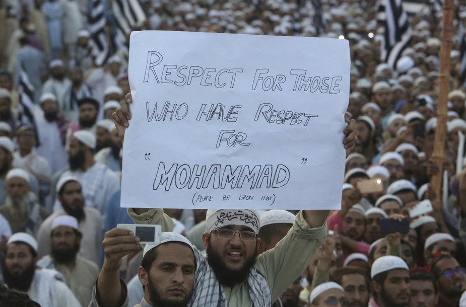 Pakistane paleista šventvagyste kaltinta krikščionė Asia Bibi.